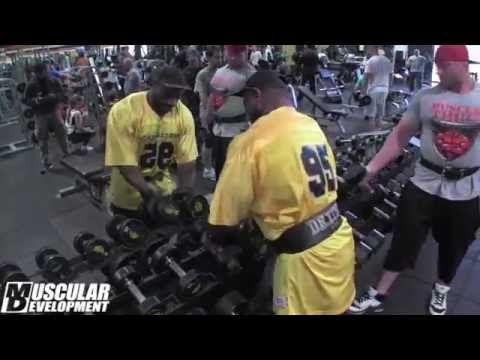 Muscular Development Magazine: Training Videos | Dexter Jackson trains shoulders