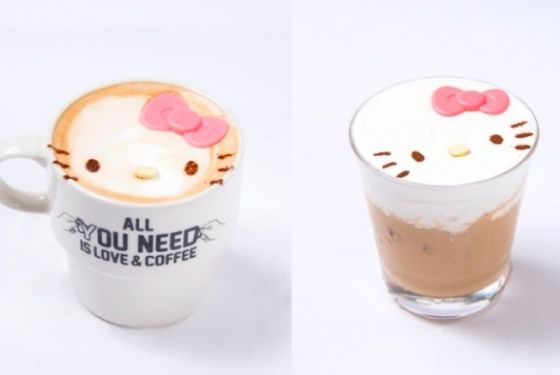 Hello Kitty lattes. Dying.