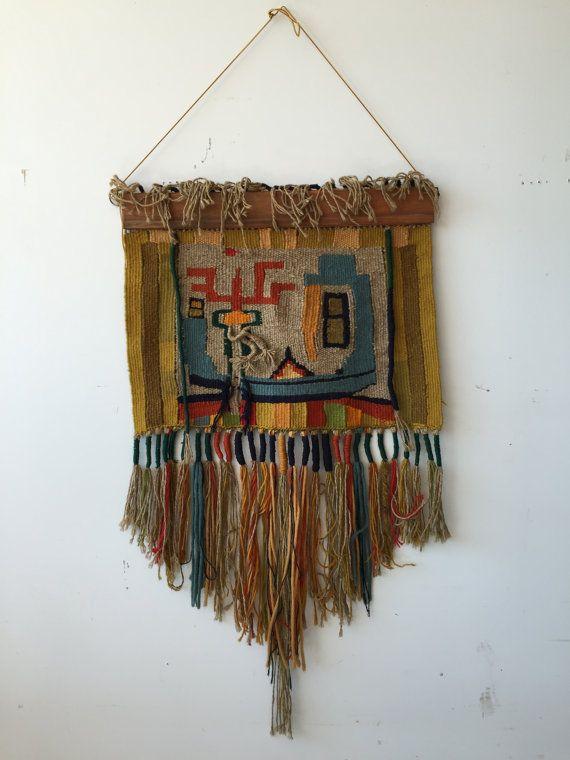 Fiber Arts Textile by BlueCollarModern on Etsy