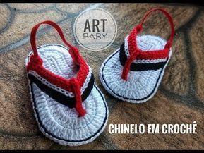 Crocs GUILHERME de crochê - Tamanho 09 cm - Crochet Baby Yara Nascimento - YouTube