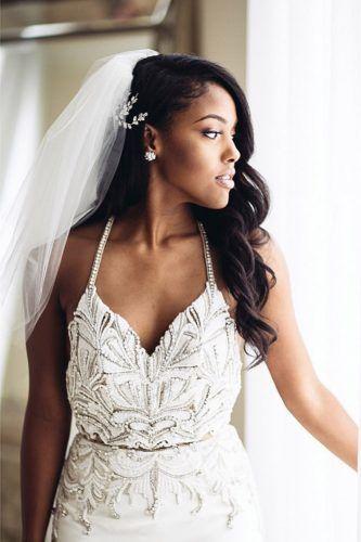 Black Women Wedding Hairstyles Vawes With Veil Hairbyapes