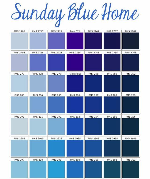 Pantone couleurs bleues