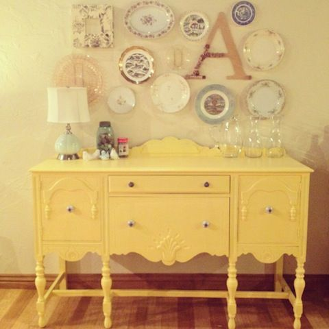 17 best ideas about yellow painted dressers on pinterest for Meuble antique a donner