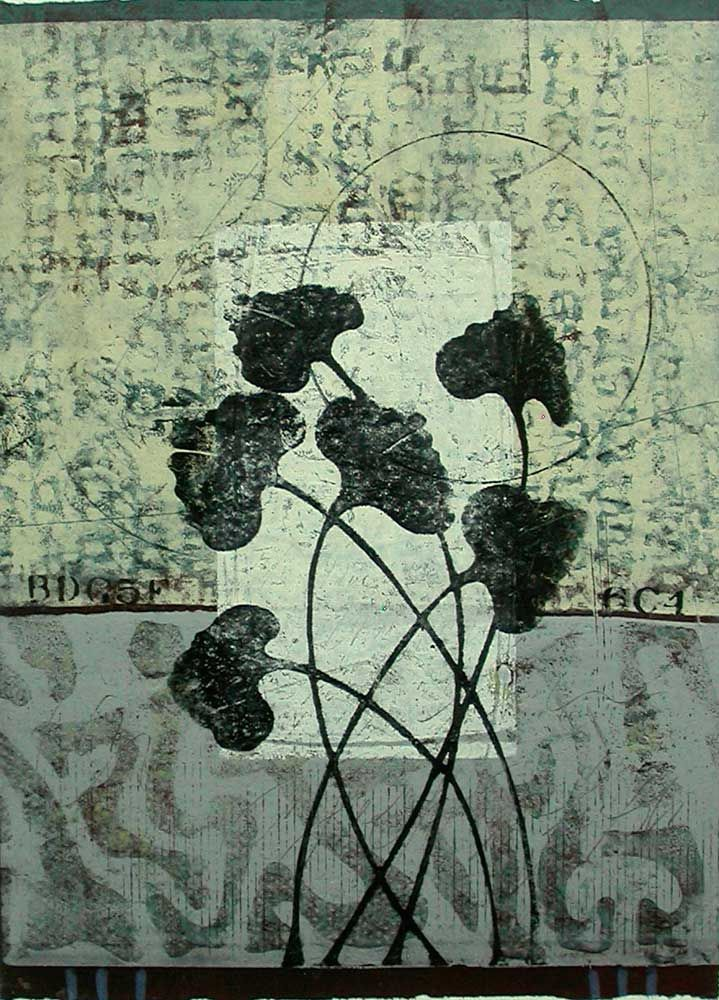 Infused with Grace, monotype by Anne Moore - I know there are quite a few of her prints on the board but I don't think this one is here. S