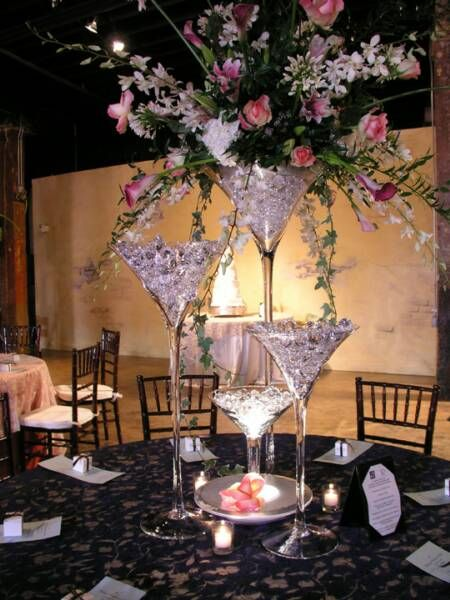 Best 25 Martini Glass Centerpiece Ideas On Pinterest Cocktail Wedding Themes 1920s Wedding