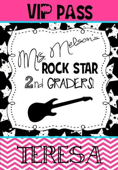 Rock Star Themed Classroom Bulletin Board Idea