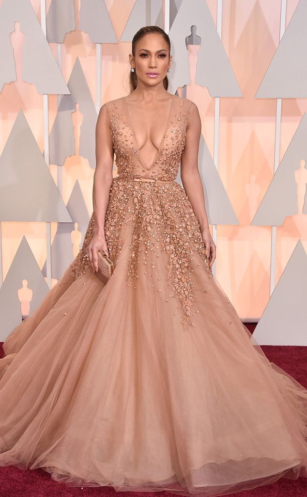 JENNIFER LOPEZ There may have been similar styles on the carpet tonight but J.Lo wins best princess moment in this Elie Saab Couture gown. Why? Because she's red carpet royalty, of course.