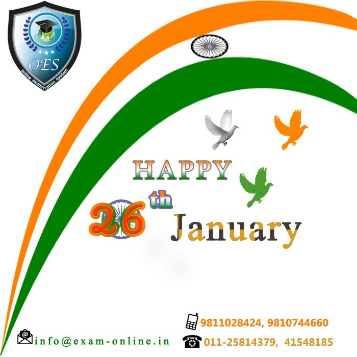 Wish You Very #Happy ##Republic #Day (26th January)!!! -> #Web_Base Software #Development #Company -> Online Examination #Software -> #Online_Examination_System -> #Examination_Systems -> Ready to Use - Online #Exam_Software    +91-1125814379 | +91-11-41548185 | +91-11-45528185 | +91-9811028424