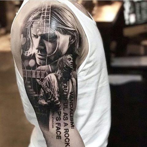 Cool piece by @robrichtattoo ➖➖➖➖➖➖➖➖➖➖➖➖➖➖➖➖ Follow @bestrealistictattoos to Enjoy the Best Realistic Tattoos in the World  ➖➖➖➖➖➖➖➖➖➖➖➖➖➖➖➖ #kurt #cobain #kurtcobain #nirvana #metal #art #tattooartist #tattoo #tattoos #ink #inked #blackandgreytattoo#music #rockmusic #beards #hardrock #tattooed #tattooart #inkedup #rocker #tattooedgirls #metalhead #girlswithtattoos  #follow #beards #rock #inkedup #beardgang #blackandgrey #instawow