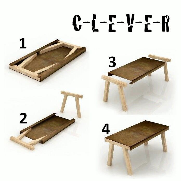 Awesome small wood folding table very cool probably 11 for Really cool dining tables