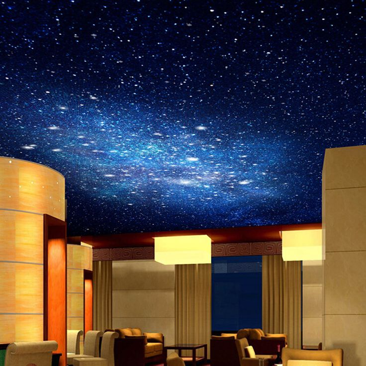 3d star nebula night sky large suspended ceiling painted for Ceiling sky mural