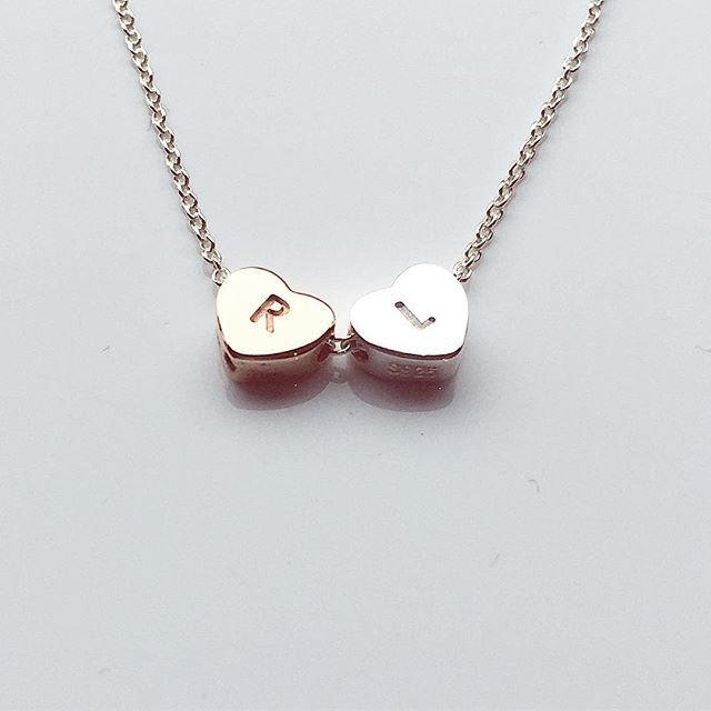 #LoveLoops #LoveHeart #necklace mixed #silver and #rosegold. #loveit !