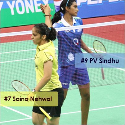 PV Sindhu attains 9th position and Saina Nehwal remained static in 7th position in the latest World Ranking of Badminton.