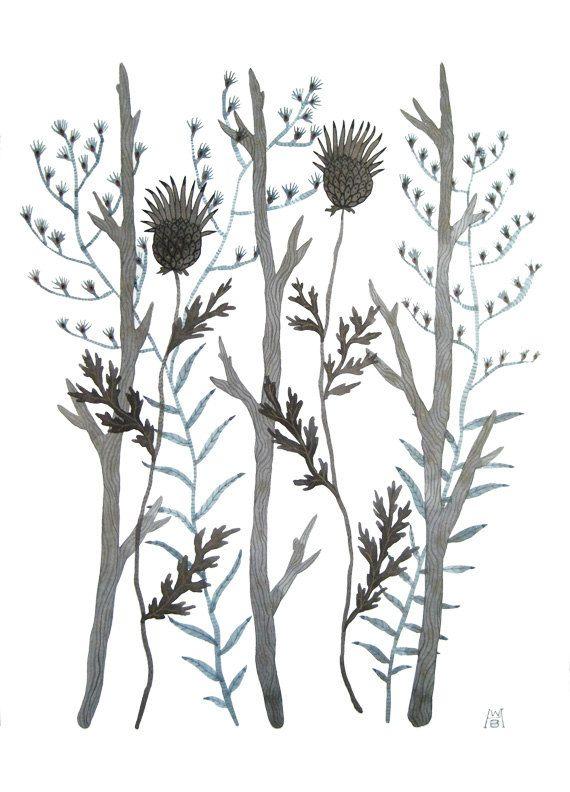 Grey Garden large original watercolor