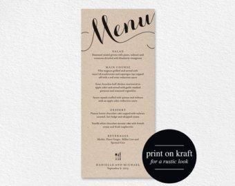 dinner menu – Etsy CA