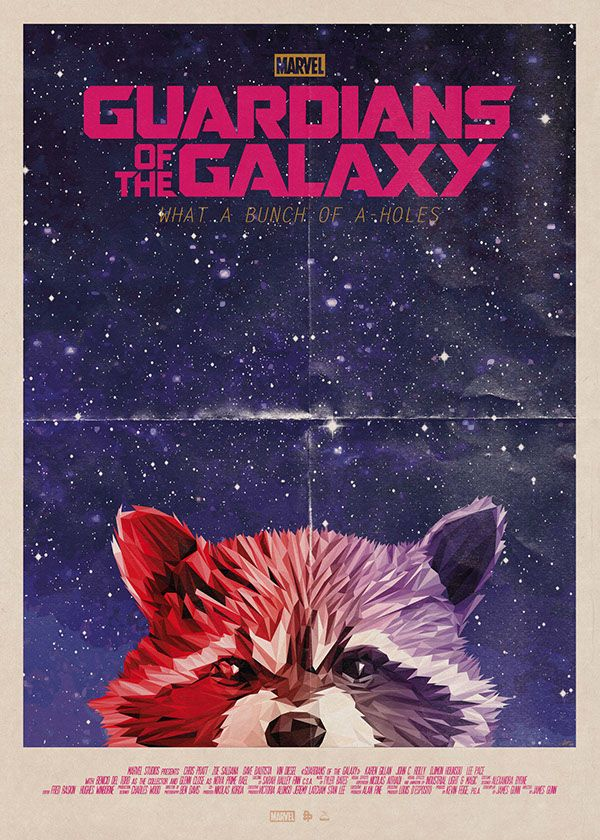 Rocket Racoon - Guardians of the Galaxy by Simon Delart ...