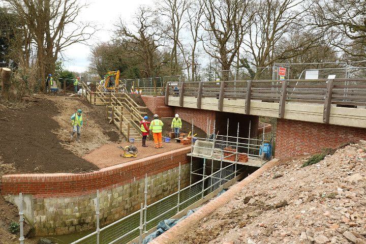 Construction of Compases Bridge nears completion. A big thank you to all of the volunteers who have helped us.