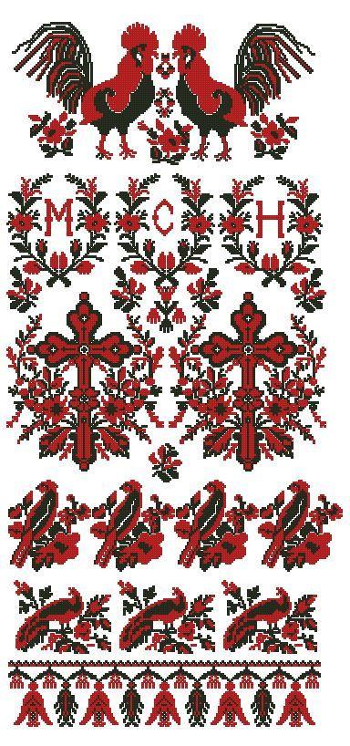 Украинская вышивка крестом бесплатные схемы
