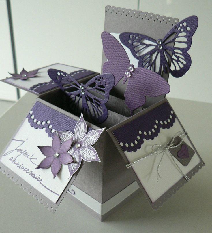 Les 25 meilleures id es de la cat gorie cartes pli es sur - Fabriquer une boite a bijoux avec une boite a chaussure ...