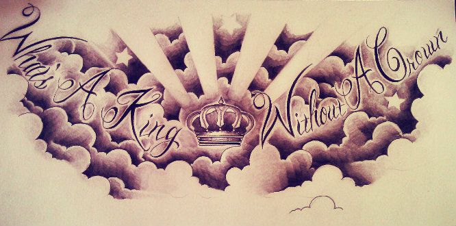 Chest Piece Tattoo Design (What's A King Without A Crown)