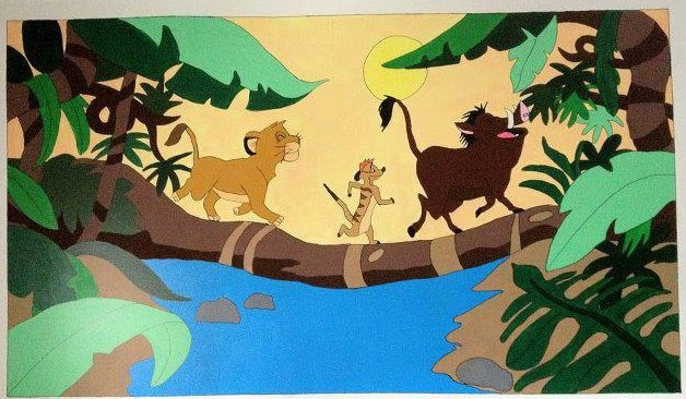 This is a mural done by a friend and myself for a clients nursery, thanks for looking!  Check out my page on facebook Caught Your Eye Murals
