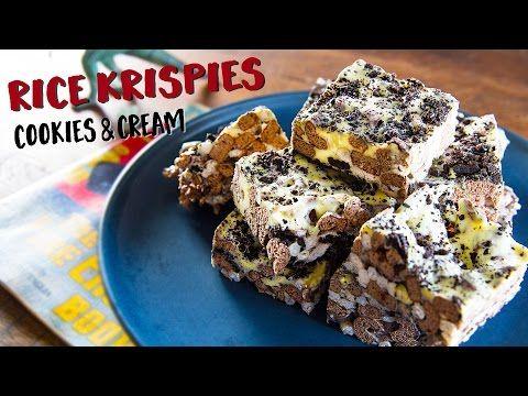クッキー&クリーム・ライスクリスピー・トリーツ|How to make Cookies & Cream Rice Krispies Treats~すぐに作れるズボラおやつ~ - YouTube