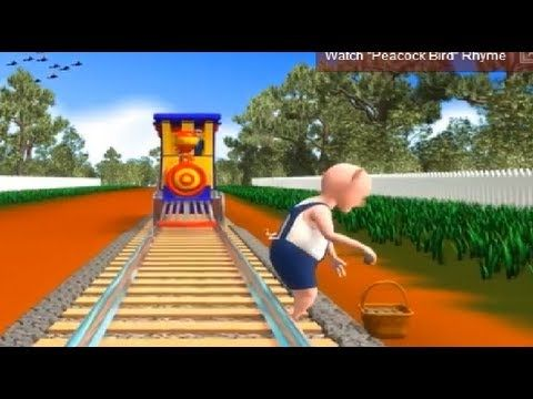 """Nursery Poems in English - """"Piggy On The Railway Line"""" Cartoon Video is the best Kids Nursery Poem in English Playlist for children. It depicts the story of a piggy picking up stones on the railway line . 3D Animated song for preschoolers, nursery babies and toddlers.  This video is brought to you by """"Classteacher Learning Systems""""."""