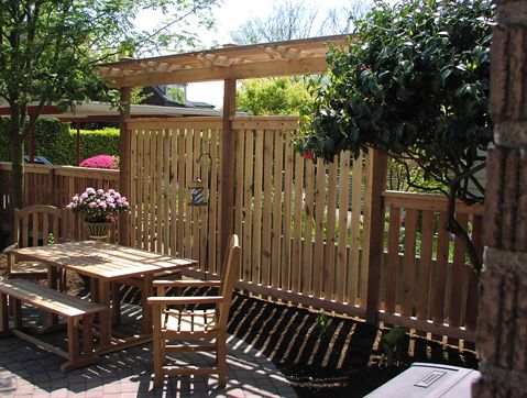 107 best back patio images on pinterest - Patio Fencing Ideas