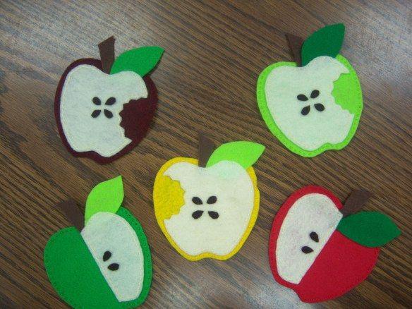 Apple poem and felt board activity