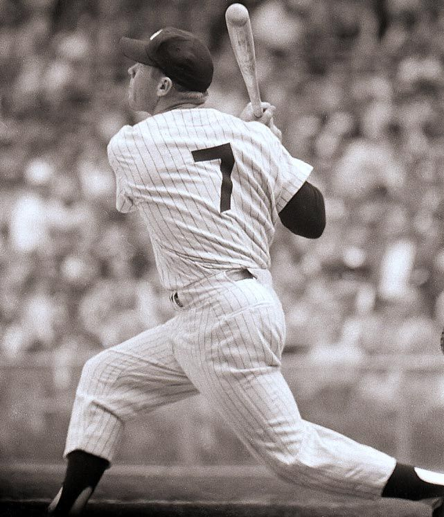 Mickey Mantle - 1956 AL - New York Yankees  .353 BA, 52 HR, 130 RBI - Baseball's Triple Crown Winners - Photos - SI.com -
