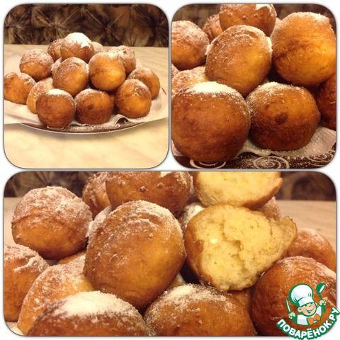 Творожные пончики с корицей - кулинарный рецепт