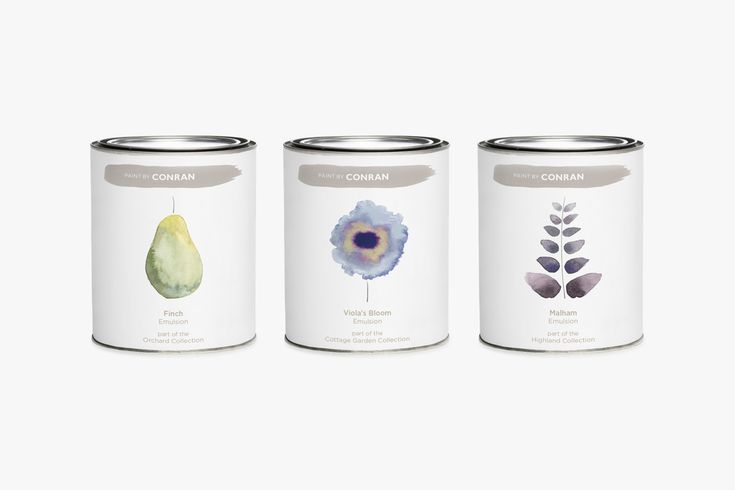 Paint by Conran - a range of interior paints primarily focused on the domestic market. The range launches with 96 colours inspired by British plants and landscapes.
