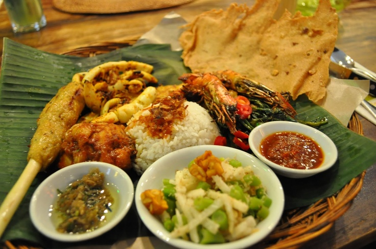 Indonesian food - Nasi Campur