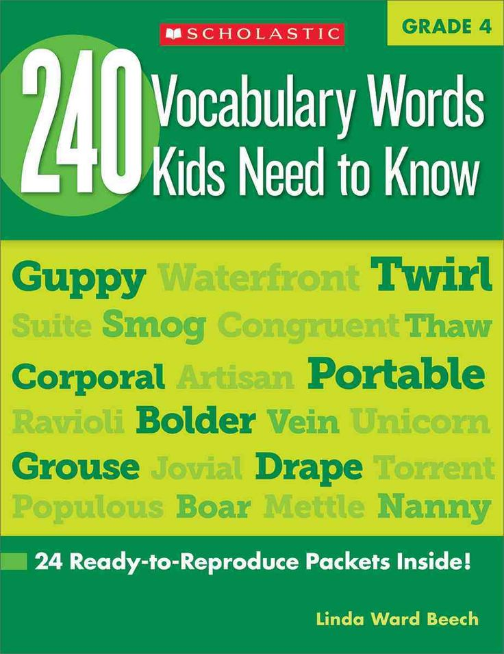 240 Vocabulary Words Kids Need to Know, Grade 4: 24 Ready-to-reproduce Packets That Make Vocabulary Building Fun ...
