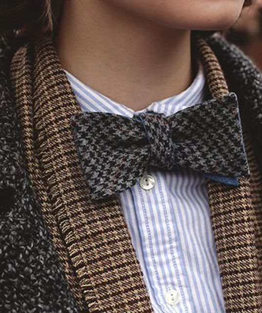Mixed tweed. (maybe not the stripey shirt, though?)