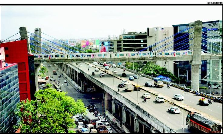 Western Express Highway, Chakala Flyover and Mumbai Metro! \m/