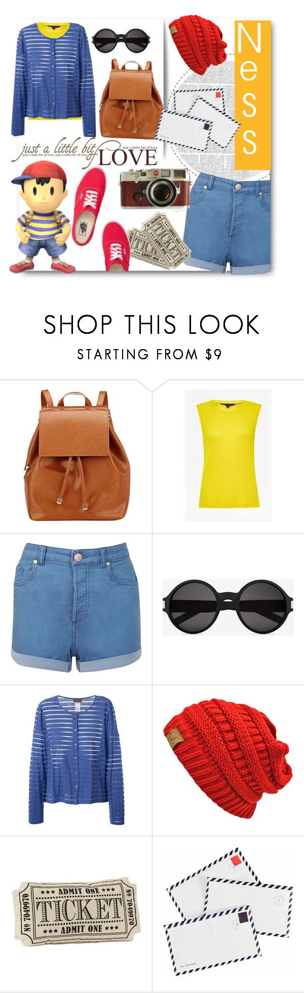 """""""Get The Look - Ness"""" by xmichi-chanx ❤ liked on Polyvore featuring Barneys New York, French Connection, Miss Selfridge, Yves Saint Laurent, Kenzo, Vans, TEN and Leica"""