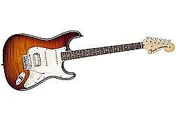 Fender American Select Stratocaster HSS Electric Guitar - Tobacco Sunburst Finish