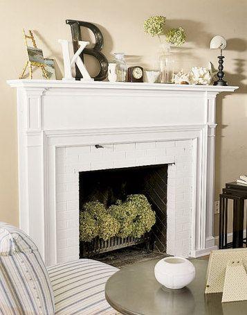 "A summer fireplace. Hydrangeas. Thinking ""Inside the Box"" : Summer Fireplace Design - Interiors by Patti Blog - INTERIORS BY PATTI"