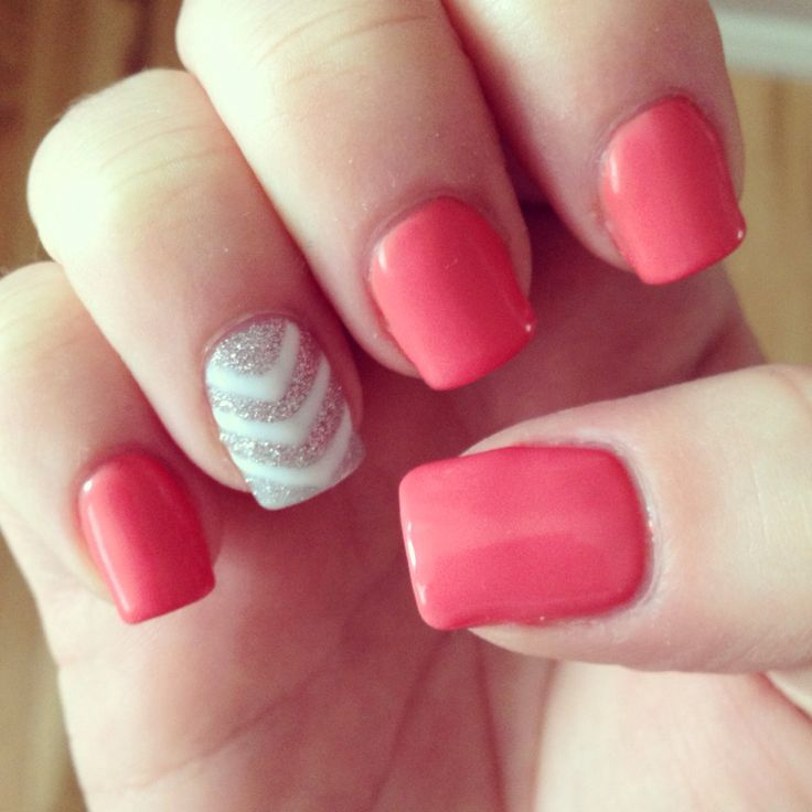 1000 Ideas About Coral Gel Nails On Pinterest Gel Nails