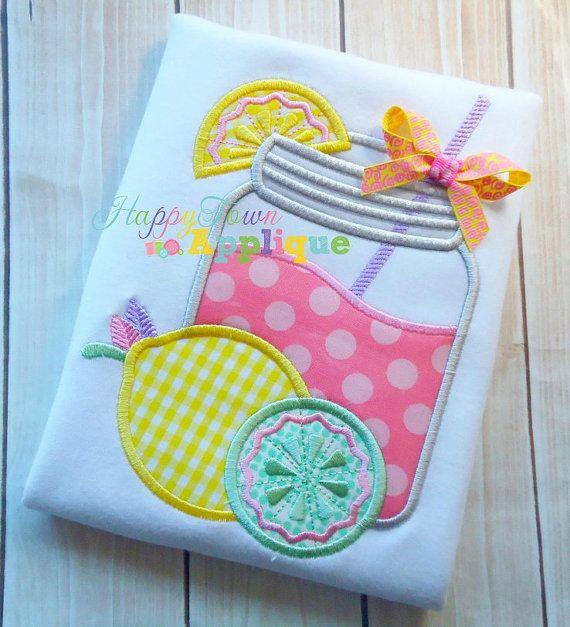 Lemonade+Glass+Machine+Embroidery+Design+by+HappytownApplique,+$4.25