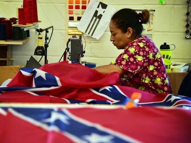 Sarah Cole/AL.com via AP  Alabama Store Making Their Own Confederate Flags After Supplier Caves to Race Baiters