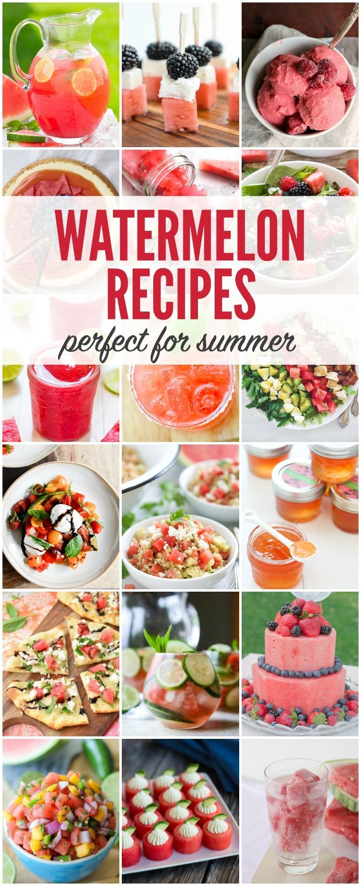 Transform your watermelon into something extraordinary with one of these watermelon recipes. So many ideas to help you savor every juicy bite!