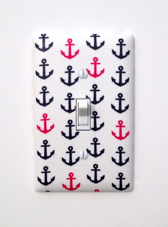 Anchor Light Switch Plate Cover / Nautical Nursery by SSKDesigns
