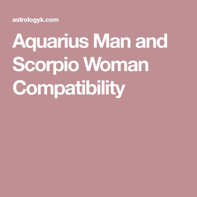 Sagittarius Man and Aquarius Woman