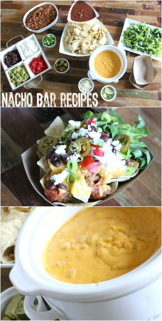 Nacho Bar from Let's Get Together - recipe for 3-ingredient nacho cheese and…