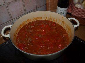 Das perfekte Ligurisches Lammragout mit Tomaten-Rezept mit einfacher Schritt-für-Schritt-Anleitung: Tomaten pellen, Knoblauch schälen und Paprika…