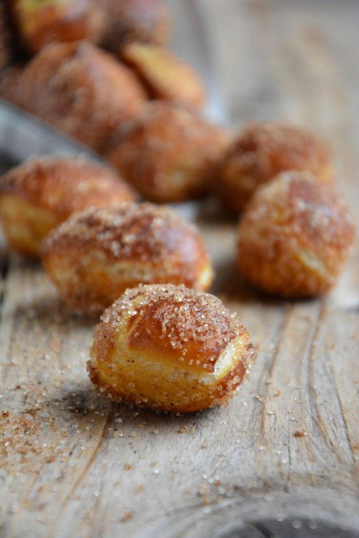 Pretzels bites à la cannelle {mini bretzels pour le goûter}