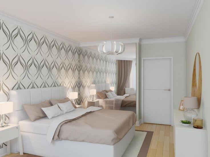 В интерьере спальни скандинавский стиль.
