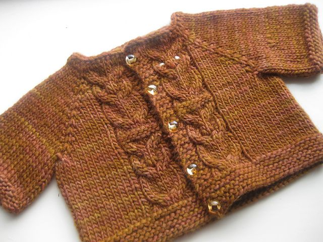 Ravelry: Hoot Cardigan pattern by Brenna Kotar  For Barnes Baby?